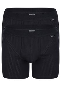 Schiesser Authentic Shorts, 2-pack, zwart