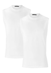 Schiesser American T-shirt Singlet 2-pack, wit