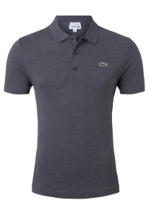 Lacoste Sport polo Slim Fit, antraciet grijs (ultra lightweight knit)