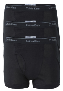 Calvin Klein Trunks (3-pack), zwart met gulp