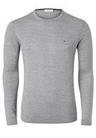 Calvin Klein, heren trui wol, grijs (Fitted)
