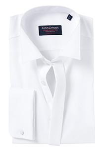 Casa Moda Comfort Fit smoking overhemd dubbele manchet, wit wing kraag