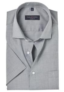 Casa Moda Modern Fit overhemd korte mouwen, grijs