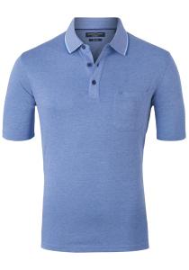 Casa Moda Comfort Fit poloshirt, blauw melange