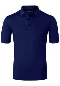 Casa Moda Comfort Fit poloshirt, marine blauw melange