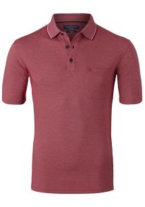 Casa Moda Comfort Fit poloshirt, rood melange