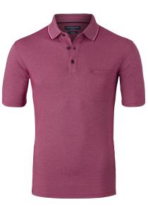 Casa Moda Comfort Fit poloshirt, donker roze melange