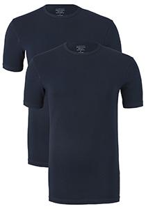 Claesen's T-shirts (2-pack), O-hals, blauw