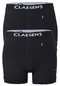 Claesen's Boxers (2-pack), Retro rib, zwart