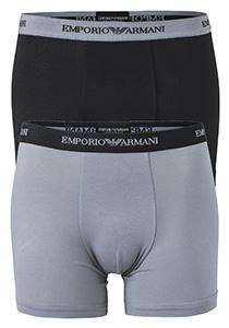 Armani Boxers (2-pack), zwart en grijs