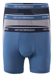 Armani Boxers (3-pack), blauw, grijs en antraciet