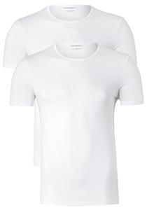 Armani T-shirts O-hals (2-pack), wit