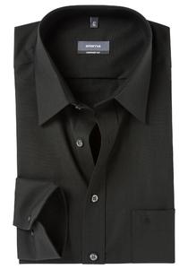 ETERNA Comfort Fit overhemd, zwart