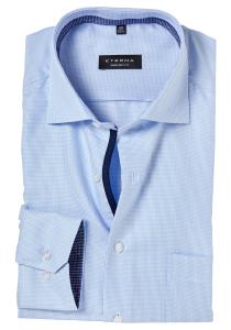 ETERNA Comfort Fit overhemd, lichtblauw twill structuur (contrast)