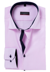 ETERNA Modern Fit overhemd, roze fijn Oxford (Contrast)