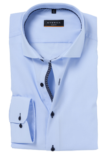 ETERNA Slim Fit Casual overhemd, blauw (stretch)