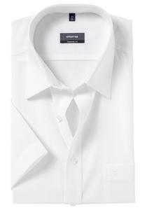 Eterna Comfort Fit overhemd, korte mouw, wit