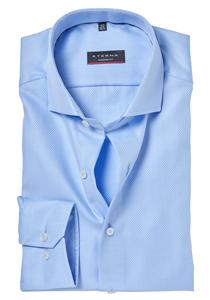 ETERNA Modern Fit overhemd, lichtblauw structuur