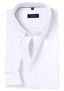 ETERNA Comfort Fit overhemd, wit Oxford (Button Down)
