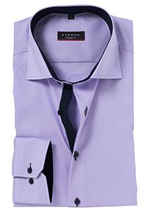 ETERNA Modern Fit overhemd, lila (blauw contrast)