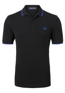 Fred Perry M3600 shirt, polo Black / Cobalt / Cobalt