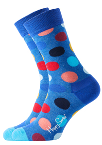 Happy Socks herensokken Big Dot Sock kobaltblauw met stip