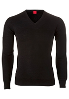 OLYMP Level 5, heren trui wol, zwart (Slim Fit)