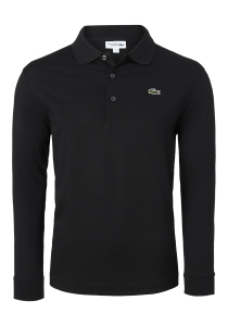 Lacoste Sport polo lange mouwen Regular Fit stretch, zwart