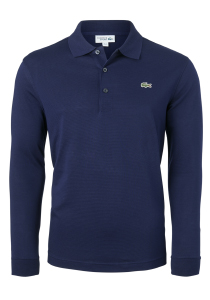 Lacoste Sport polo lange mouwen Regular Fit stretch, donkerblauw