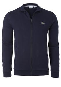 Lacoste heren sweatshirt, marine blauw (met rits)