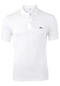 Lacoste Slim Fit polo, wit