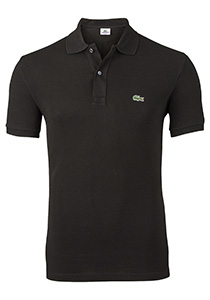 Lacoste Slim Fit polo, zwart