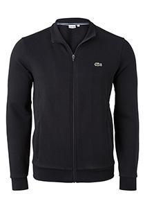 Lacoste heren sweatshirt, zwart (met rits)