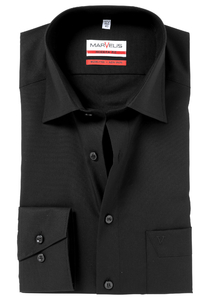 MARVELIS Modern Fit overhemd, zwart