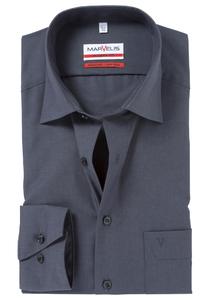 MARVELIS Modern Fit overhemd, antraciet