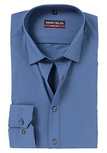 MARVELIS Body Fit overhemd, midden blauw