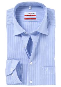 MARVELIS Modern Fit overhemd, blauw / wit gestreept