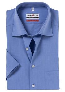 MARVELIS Comfort Fit, overhemd korte mouw, blauw