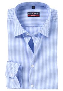 MARVELIS Body Fit overhemd, blauw / wit geruit