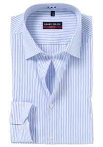 MARVELIS Body Fit overhemd, blauw / wit gestreept