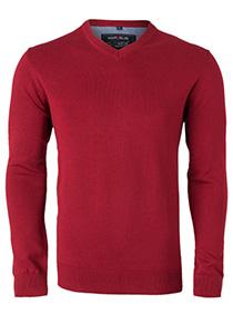 MARVELIS heren trui katoen, V-hals, rood