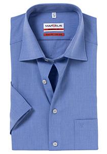 MARVELIS Modern Fit, overhemd korte mouw, jeans blauw