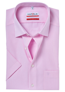 MARVELIS Modern Fit overhemd korte mouw, roze