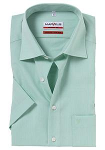 MARVELIS Modern Fit, overhemd korte mouw, licht groen