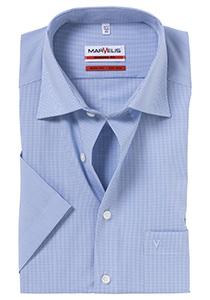 MARVELIS Modern Fit, overhemd korte mouw, blauw-wit geruit