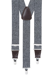 Bretels breed, grijs gemêleerd
