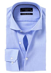 Michaelis Slim Fit overhemd, lichtblauw Oxford