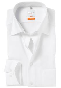 OLYMP Modern Fit overhemd, mouwlengte 7, wit