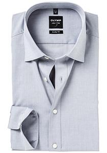 OLYMP Level 5 overhemd, mouwlengte 7, grijs