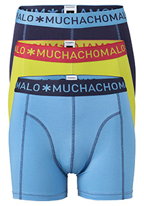 Muchachomalo boxershorts, 3-pack, solid  blue/navy/green